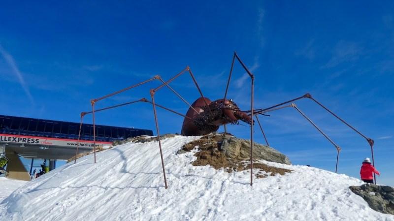 Jernedderkoppen ved Kristallhütte Kaltenbach Zillertal