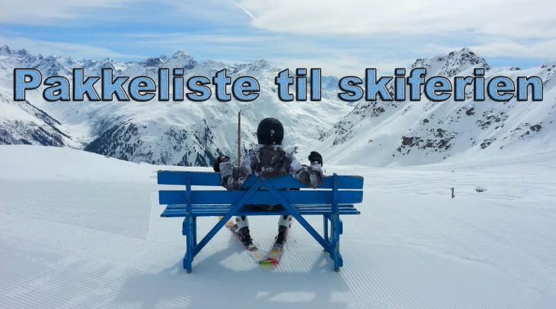 pakkelister pakkeliste til skiferie skitur skituren børn børneskitur hvad skal jeg pakke
