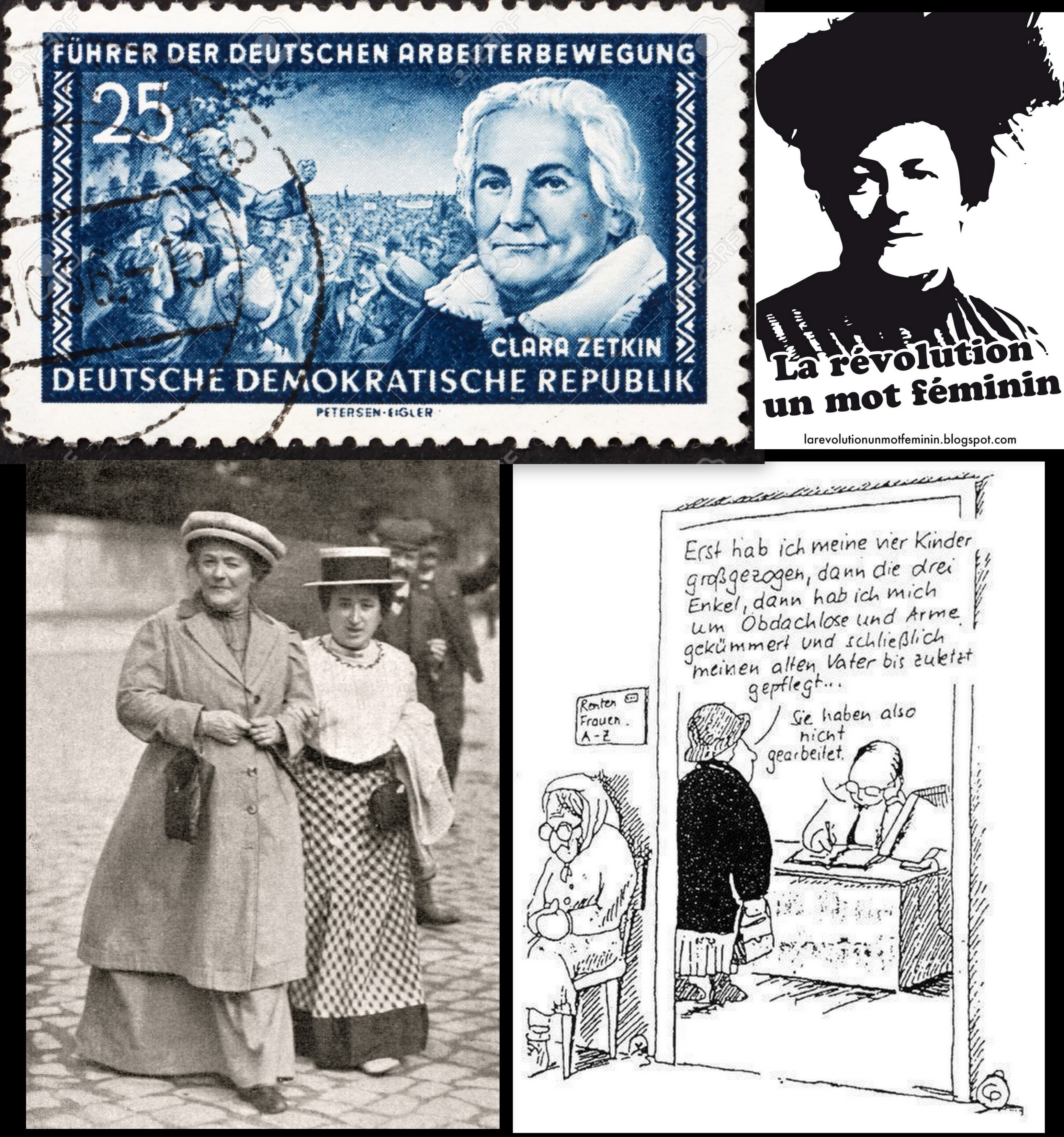 Frauentag Zetkin luxemburg collage