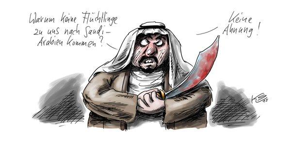 saudi flüchlinge