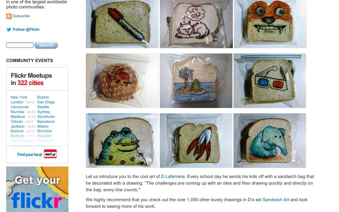 Flickr features sandwich bag art