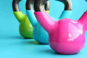 Kettle bells to represent exercise