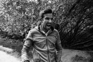 angry man yelling in rage