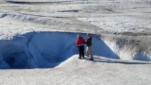 on top of a glacier