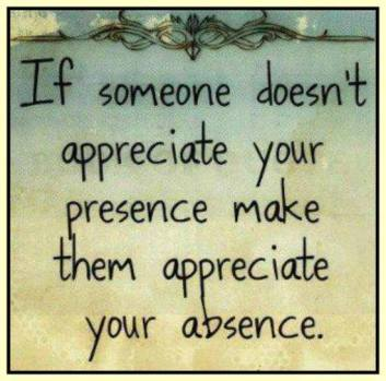 appreciate your presence