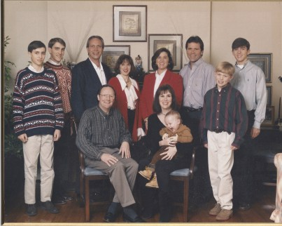 picture of author & family