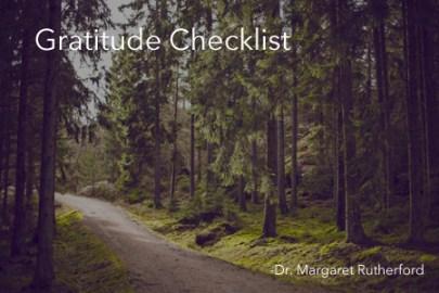 Dr. Margaret Gratitude Checklist