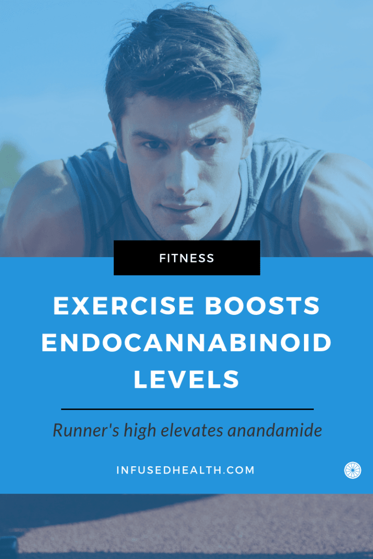 man working out to increase anandamide levels