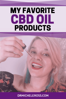 dr michele noonan ross drops cbd oil tincture into her mouth