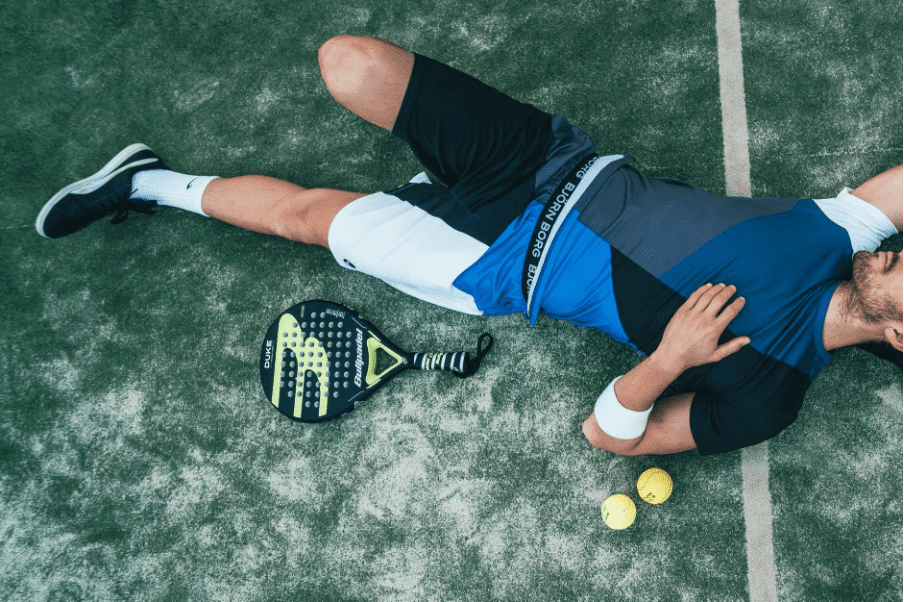 exhausted male tennis player needs cordecyps mushrooms for energy