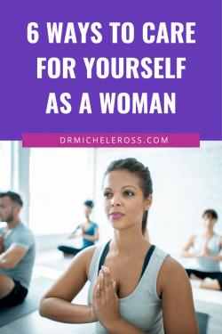 women doing yoga as self-care