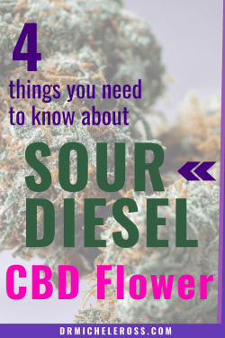 sour diesel hemp flower containing CBD