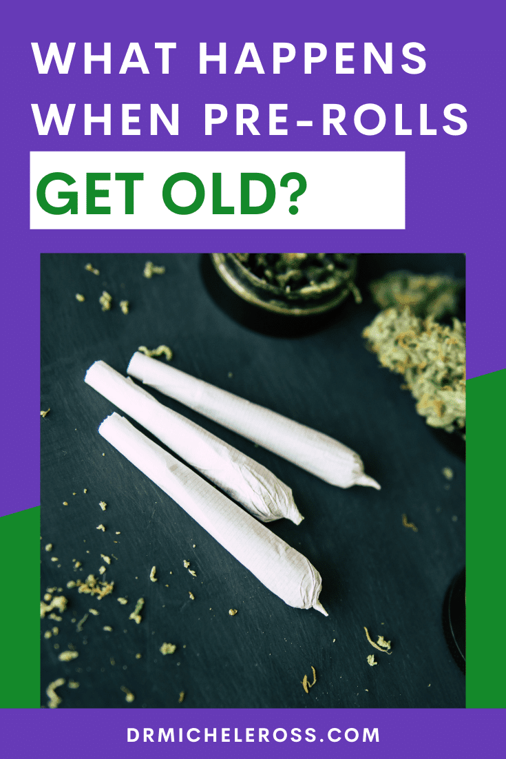 old cannabis joints and grinder