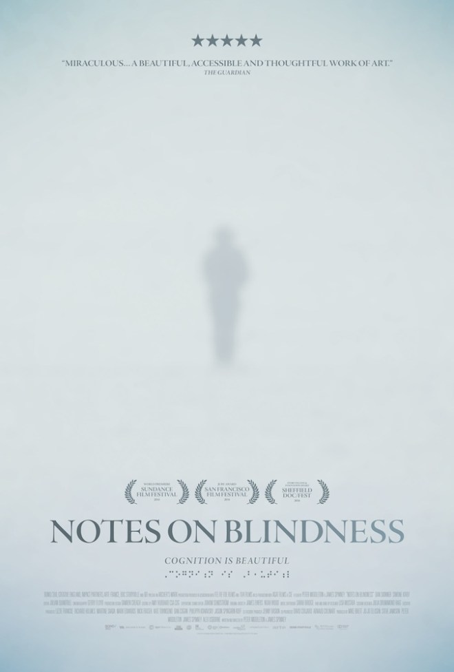 Notes on Blindness movie poster featuring John Hull with visual memories superimposed on his head