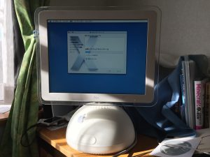 iMac G4 OSインストール時の様子