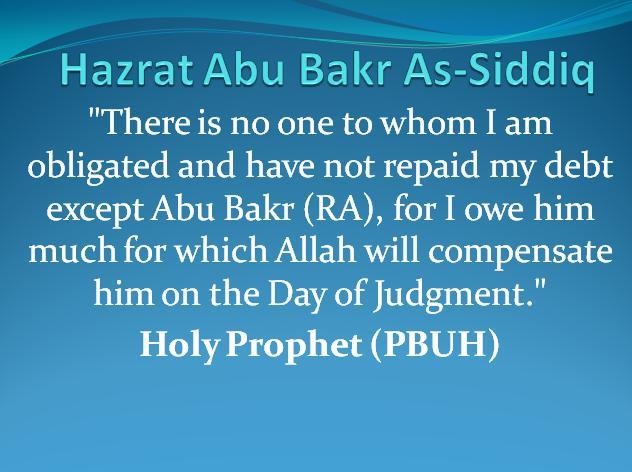 Hazrat Abu Bakr Siddiq (RA) – Dr Nauman Shad