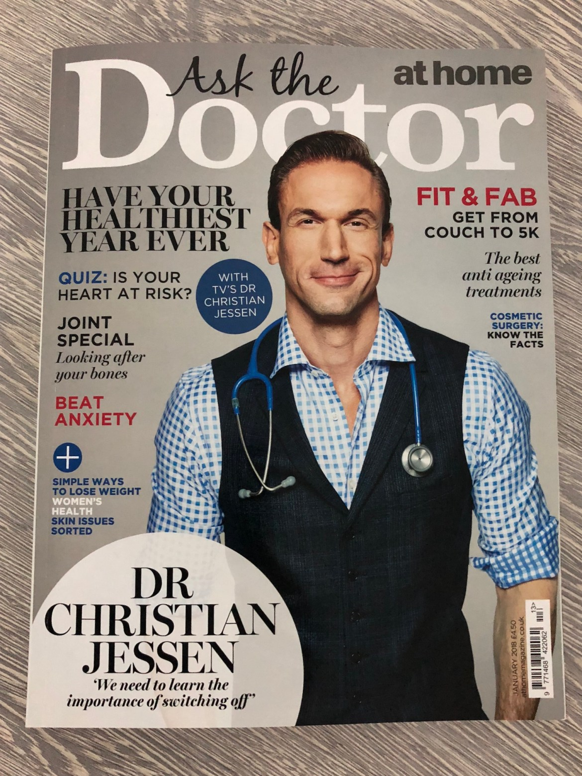 Dr Nijjer was featured in At Home Magazine
