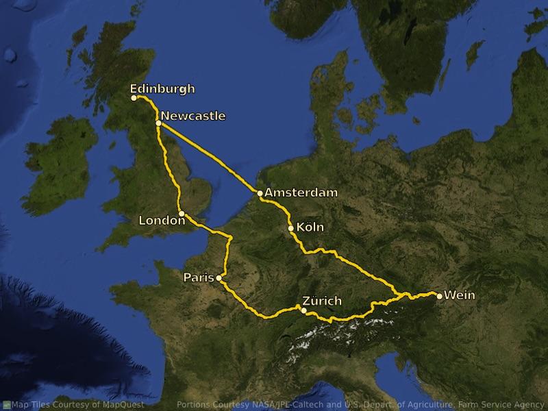European rail trip, part 1: introduction and Paris