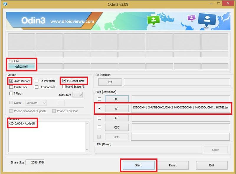 Guide Update firmware ODIN Samsung Galaxy 7