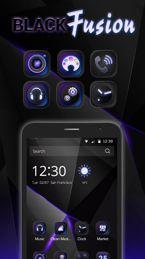 Cool Black Android Theme