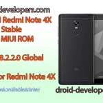 Xiaomi Redmi Note 4X Global Stable 8.2.2.0 MIUI ROM