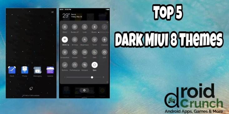 top 5 miui 8 dark themes