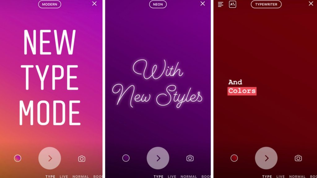 Instagram 'Type Mode' will let you add text only pages to stories