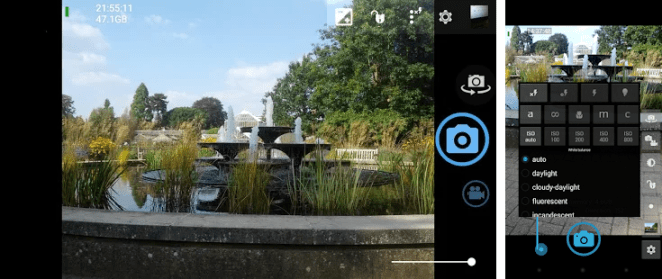 open camera application for android