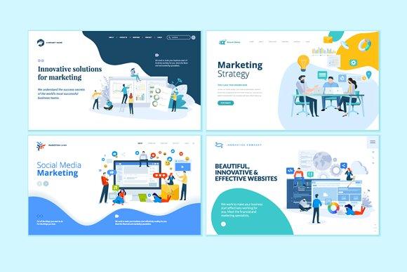 header vector for digital marketing website