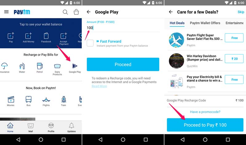 add money to google pay from Paytm for buying PUBG UC Coins