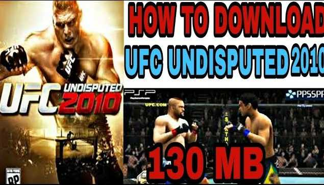 [130MB] UFC UNDISPUTED 2010 FOR PPSSPP DIRECT DOWNLOAD IMAGES