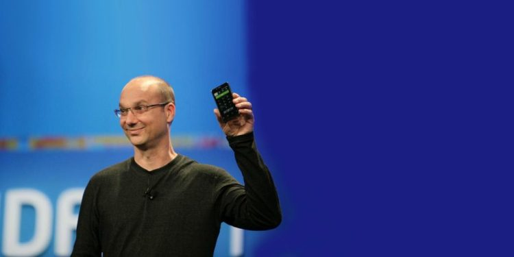 Andy Rubin unveiling Essential Phone