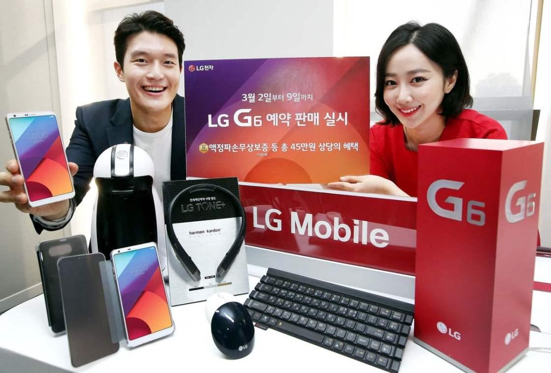 LG G6 Pre-Order reach 40,000+