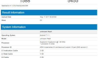 Snapdragon 660 Geekbench