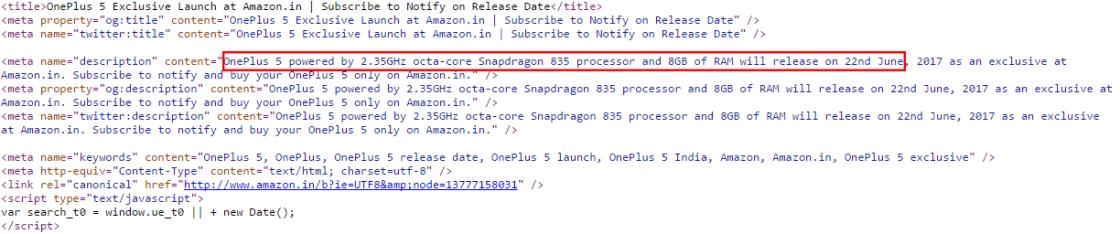 Well Done Amazon! OnePlus 5 has 8GB RAM