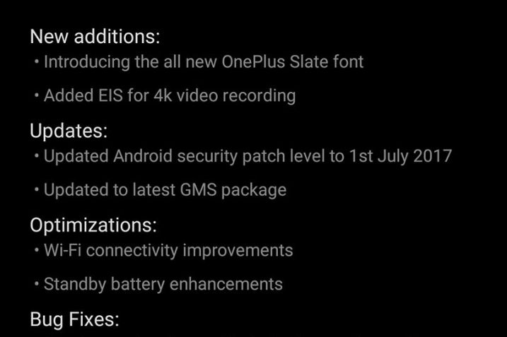 Oxygen OS 4.5.7 Update for OnePlus 5