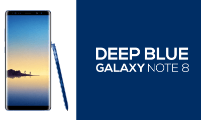 Deep Blue Galaxy Note 8