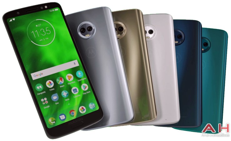 This is the Moto G6 Plus in different colors