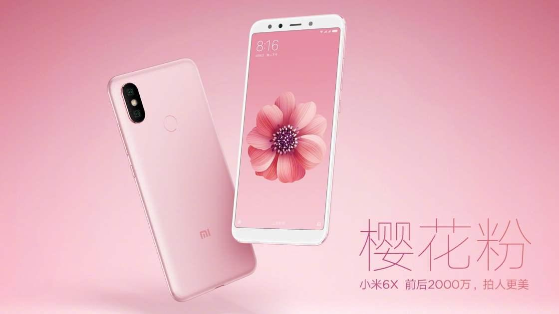 Xiaomi Mi 6X - Cherry Pink