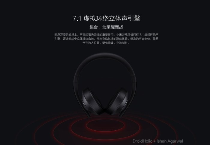 Xiaomi Gaming headset will go on sale on April 27 for ¥349 ($55) 11
