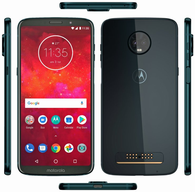Here are the Live images of the Moto Z3 Play & the 5G Moto Mod 2