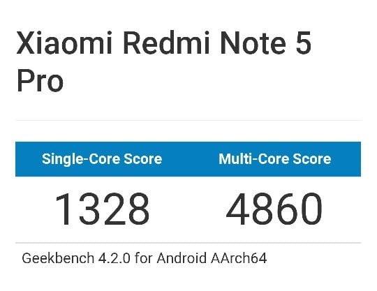 Snapdragon 636 Geekbench scores