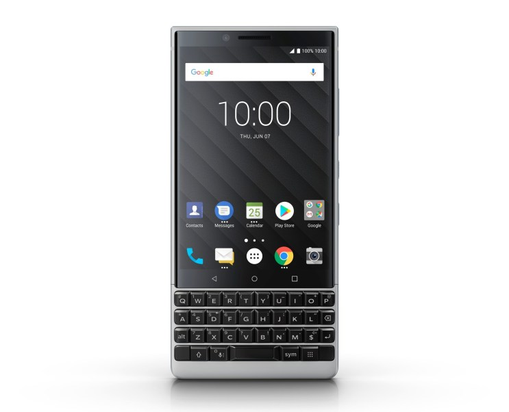 Blackberry Key2 with Silver Accent 1