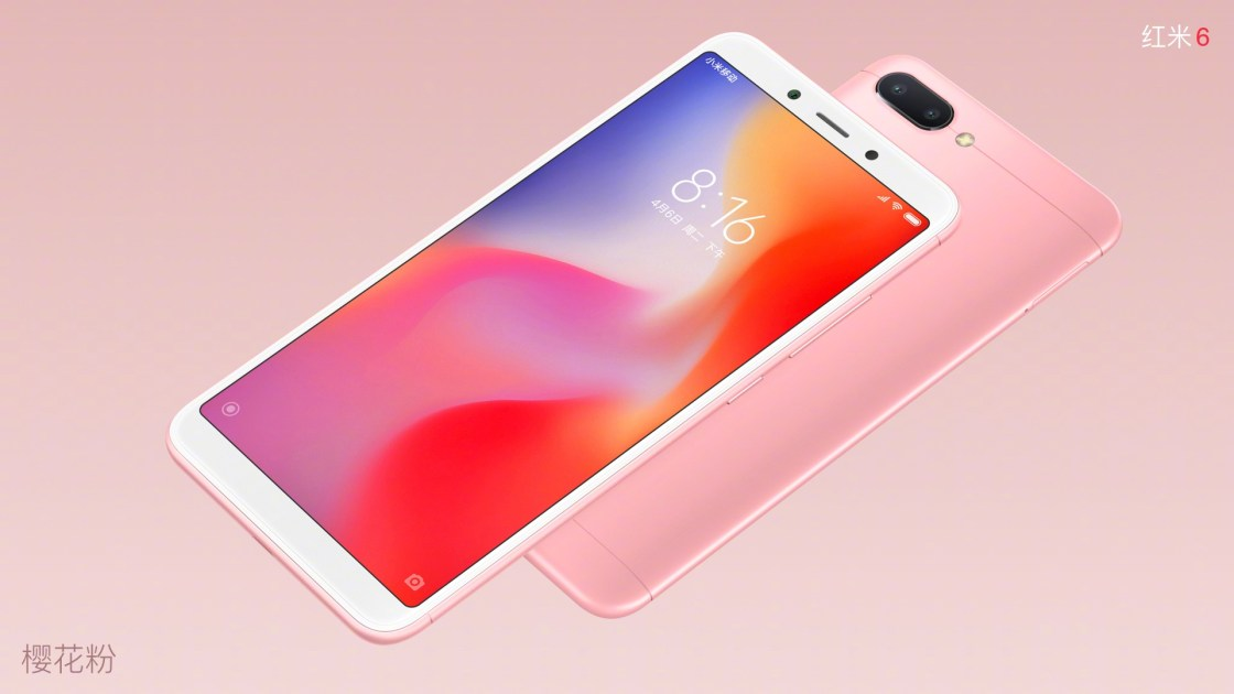 Xiaomi Redmi 6 in Rose Gold