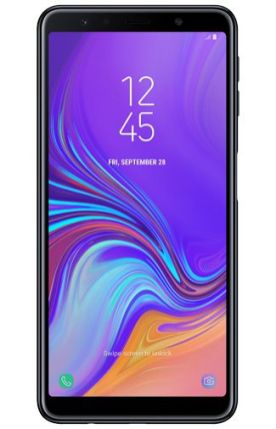 Galaxy A7 2018 render Black 1