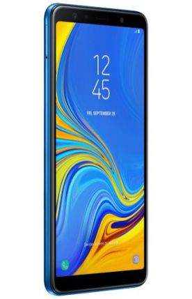 Galaxy A7 2018 render Blue 3