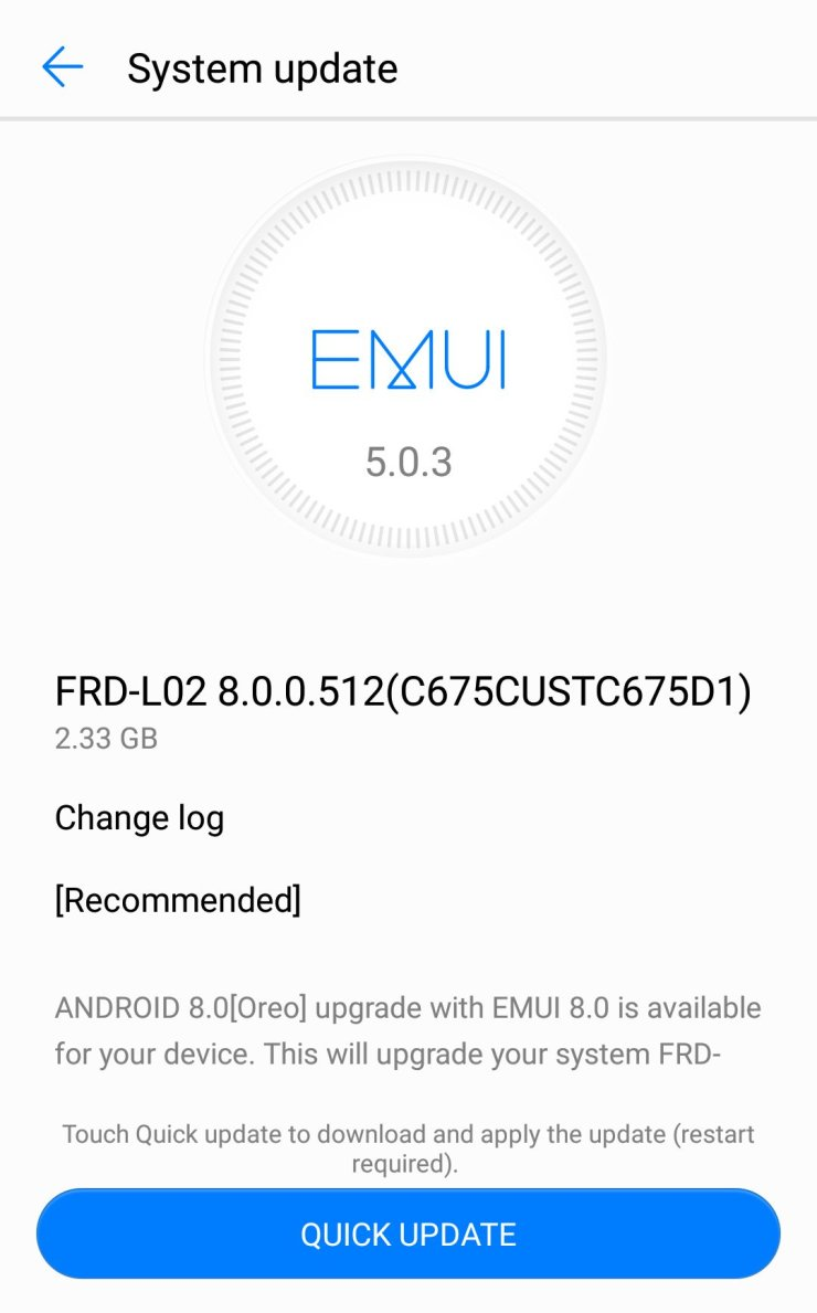 Android Oreo Update for Honor 8