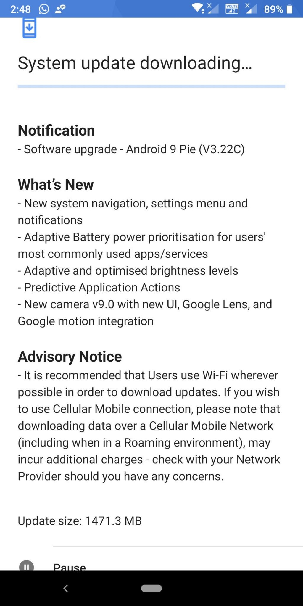Android Pie Update for Nokia 7 Plus