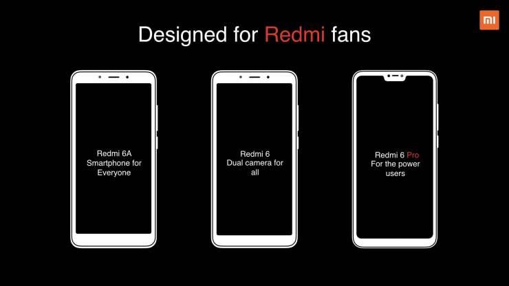 Xiaomi Redmi 6, Redmi 6A and Redmi 6 Pro launched in India 1