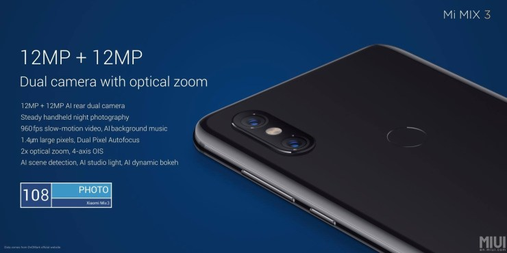 Xiaomi Mi Mix 3 launched with bezel-less design & up to 10GB RAM 5